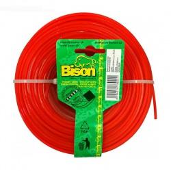 2,0mm/100m štvorcové lanko do žacej hlavy, hranaté, oranžové