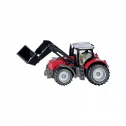 Hračka traktor Massey Ferguson s čelným nakladačom