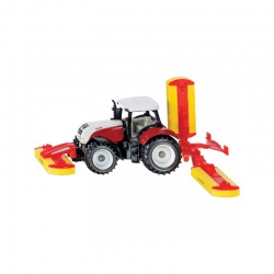 Hračka traktor STEYR CVT s Pöttinger kosackou