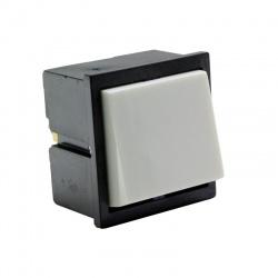 Kolískový prepínač, 2-pólový, bieločierny