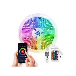 Wifi Smart LED svetelný pás, RGB, 5m, sada s adaptérom a dialkovým ovladačom