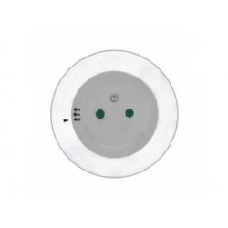 Nočné LED svietidlo s priebežnou zásuvkou, farebné