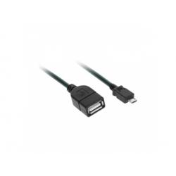 USB 2.0 A zdierka - USB B micro konektor, 20cm