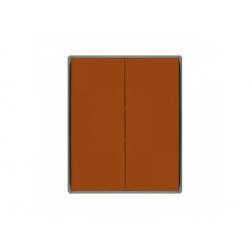 3558E-A00652 07 kryt vypínača č.5, 6+6 (5B), karamelová/ľadová sivá