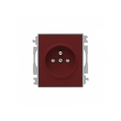 5519E-A02357 24 zásuvka, karmínová/ľadová sivá