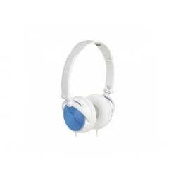 Slúchadlá, 40mm, skladacie, bielo-modré
