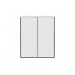 3558E-A00652 04 kryt vypínača č.5, 6+6 (5B), biela/ľadová sivá