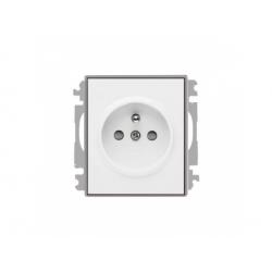 5519E-A02357 04 zásuvka, biela/ľadová sivá