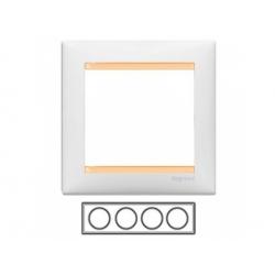 4-rámik, biely/bežový 774484