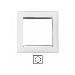 1-rámik, biely/strieborný prúžok 770491
