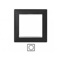 1-rámik, čierny/strieborný prúžok 770391