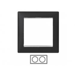 2-rámik, čierny/strieborný prúžok 770392