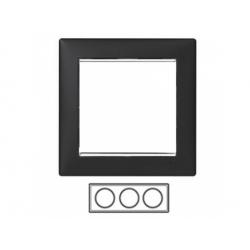 3-rámik, čierny/strieborný prúžok 770393