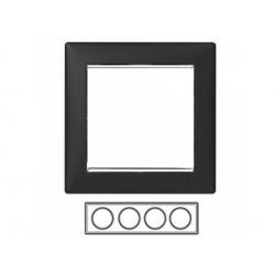 4-rámik, čierny/strieborný prúžok 770394