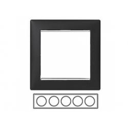 5-rámik, čierny/strieborný prúžok 770395