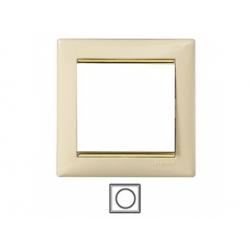 1-rámik, béžová/ zlatý prúžok 774151
