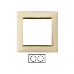 2-rámik, béžová/ zlatý prúžok 774152