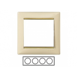 4-rámik, béžová/ zlatý prúžok 774154