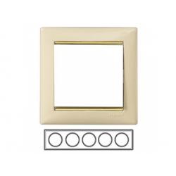 5-rámik, béžová/ zlatý prúžok 774155