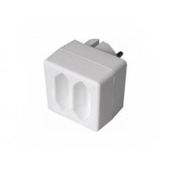 Rozbočka, 2x2,5A/230V, biela