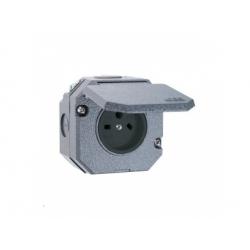 5515N-C05755 zásuvka nástenná IP55, sivá