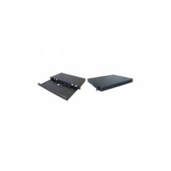 """19"""" výsuvný patch panel, 1U pre 24xSC duplex adaptérov"""