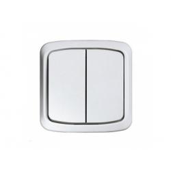 3558A-05940 B vypínač č.5, IP44, biely
