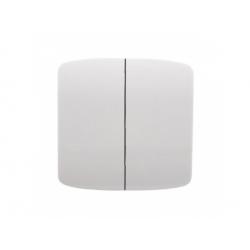 3558A-A652 B kryt vypínača č.5, 6+6 (5B), biely