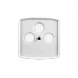 5011A-A00300 B kryt TV+R+(SAT) zásuvky, biely