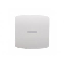 3558A-A653 B kryt vypínača č.1, 6, 7 s priezorom, biely