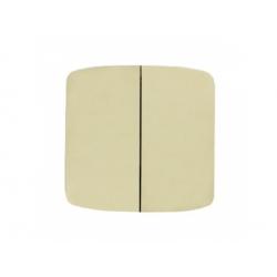 3558A-A652 C kryt vypínača č.5, 6+6 (5B), slonová kosť