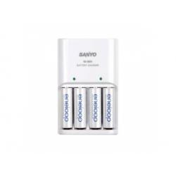 MQN044 AA/AAA nabíjačka batérií, 1800cyklov + 4x batérie
