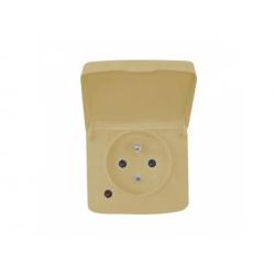5518A-2989 D zásuvka, IP44 béžová