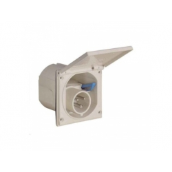 CEE prívodka vst. 230V, biela, IP 44