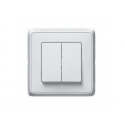 773808 Cariva vypínač č.6+6, biely