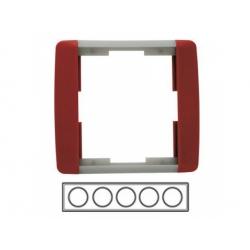 5-rámik, karmínová/ľadová sivá 3901E-A00150 24