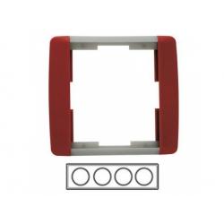 4-rámik, karmínová/ľadová sivá 3901E-A00140 24