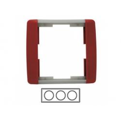 3-rámik, karmínová/ľadová sivá 3901E-A00130 24