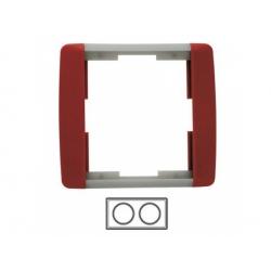 2-rámik, karmínová/ľadová sivá 3901E-A00120 24