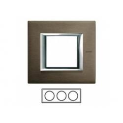 3-rámik, bronz brúsený, HA4802M3HBR