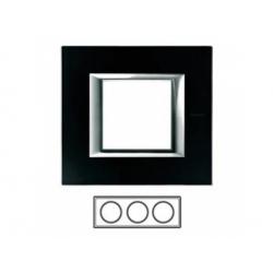 3-rámik, sklo čierne, HA4802M3HVNN
